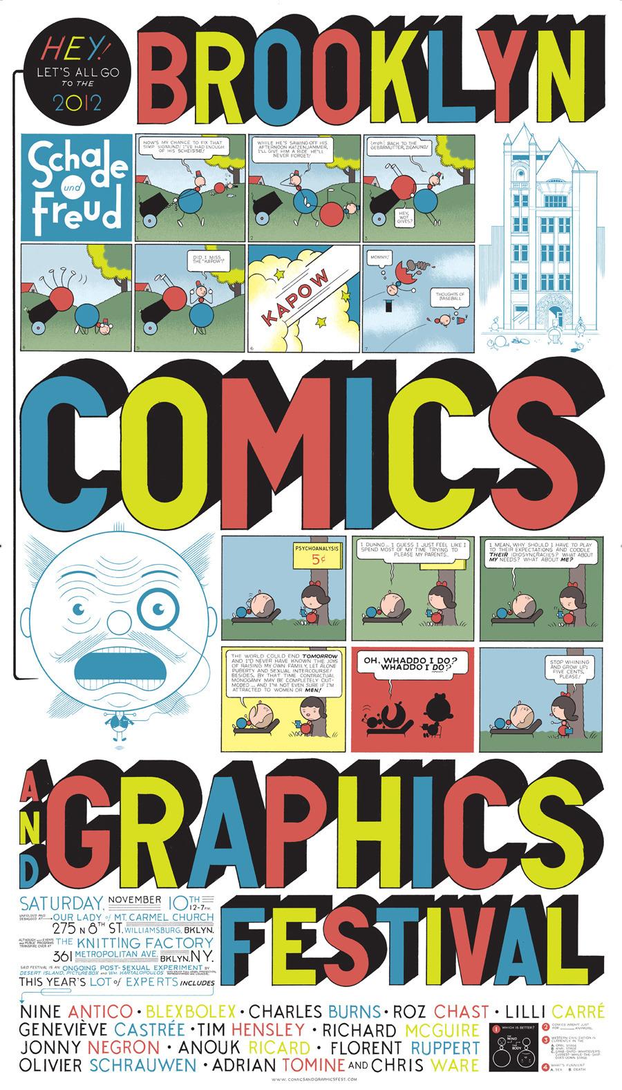 brooklyn comics and graphics festival 50 watts. Black Bedroom Furniture Sets. Home Design Ideas