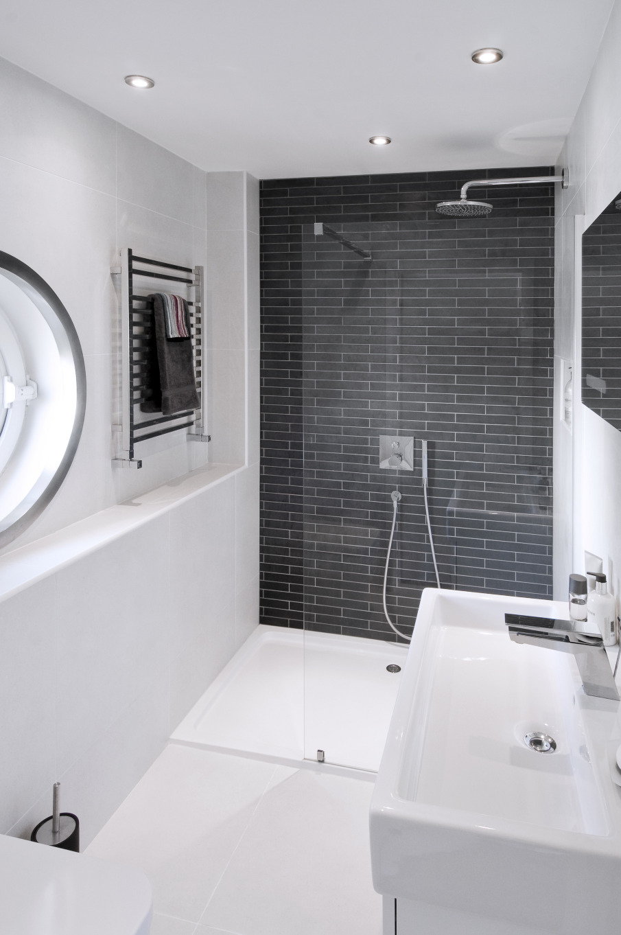contemporary bathrooms in east london residence - paul langston