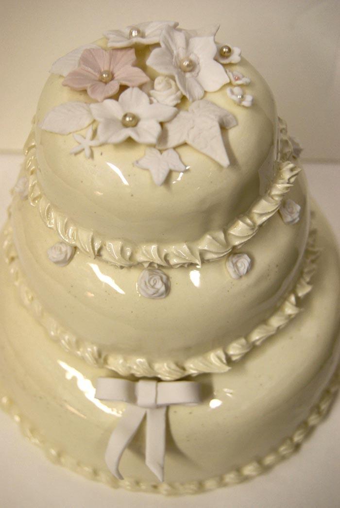 Ceramic Wedding Cake